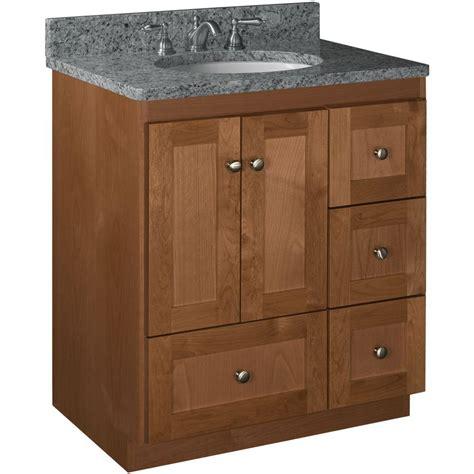 home depot bathroom vanities 30 simplicity by strasser shaker 30 in w x 21 in d x 34 5