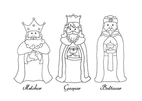 imagenes de los reyes magos con nombres 10 dibujos de reyes magos para colorear