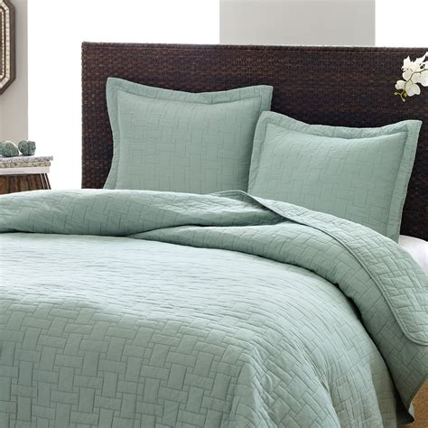 blue coverlet tommy bahama aruba blue basket weave quilt set from