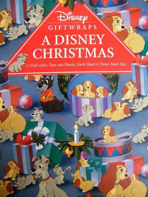 disney giftwrap book a disney christmas 6 designs 12