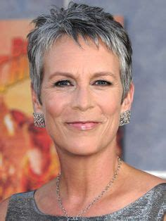 jamie lee curtis with silver hair classy and very short haircut silver gray hair color on pinterest gray hair silver