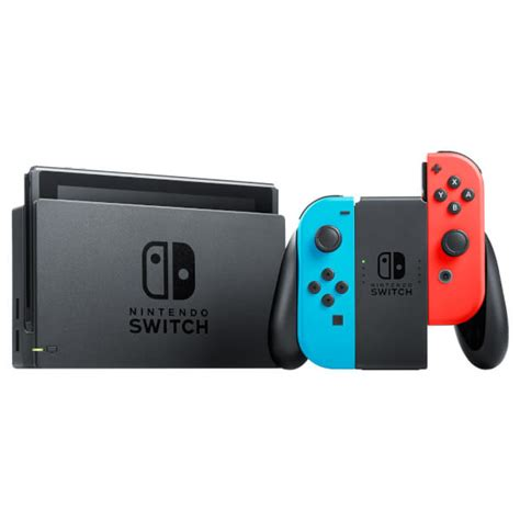 Nintendo Switch Neon Blue nintendo switch with neon blue neon con controllers nintendo official uk store
