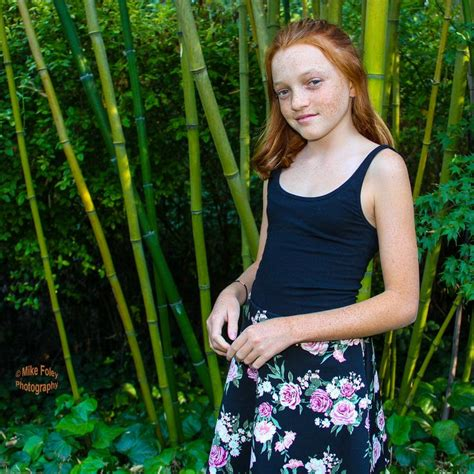preteen red head pre teen ginger girl with freckels red hair and skinny