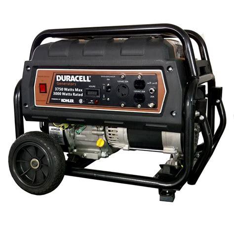duracell 4000 watt portable gas power generator with