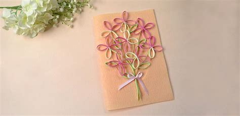 quilled greeting card family crafts