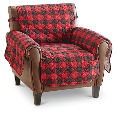 buffalo check sofa surefit 174 cotton duck furniture cover buffalo check