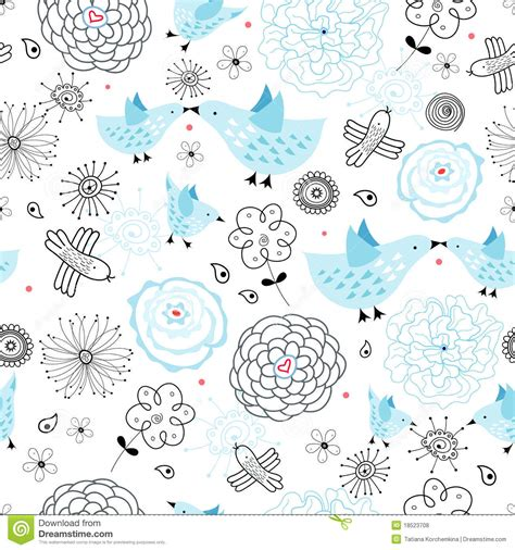 pattern with blue birds royalty free stock photos image