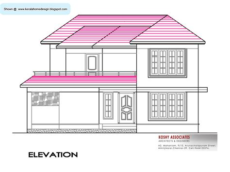 indian house plan elevation south indian house plan 2800 sq ft kerala home design and floor plans