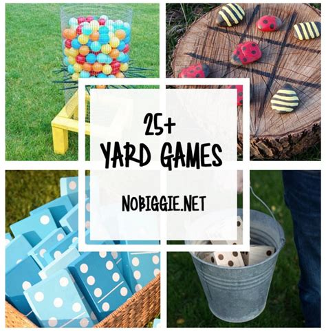 games for the backyard 25 diy yard games