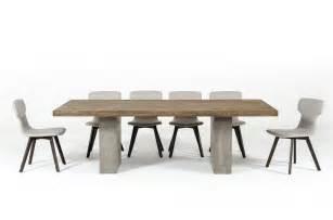 Modern Concrete Dining Table Modrest Renzo Modern Oak Concrete Dining Table