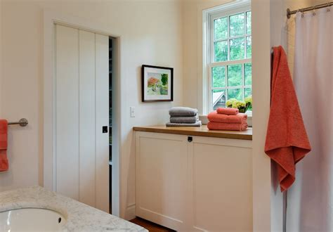 how to hide washer and dryer in bathroom hidden washer and dryer cottage bathroom crisp