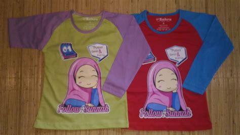 Kaos Muslim Anak Tangan Panjang Sunnah At 26 Size M L kaos anak muslim zahra follow sunnah grosir baju anak branded baju anak muslim baju kaos