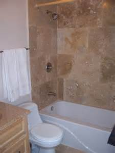bathtub shower tile bathroom on tub surround travertine and