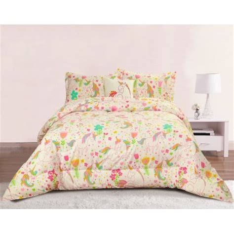 unicorn bedding twin unicorn girls bedding twin 3 piece comforter bed set pastel heart floral polka dot