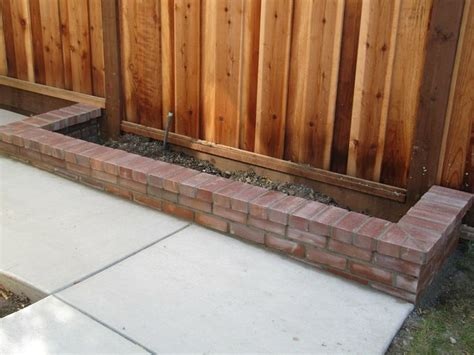 brick flower bed brick flower bed backyard pinterest