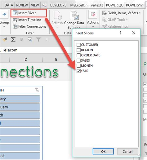 connect slicers to excel pivot tables