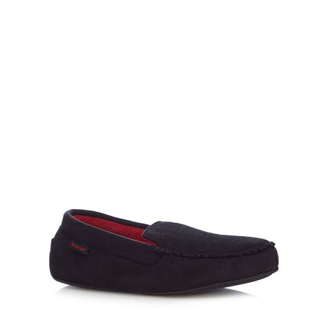 debenhams slippers totes mens black pillowstep moccasin slippers from