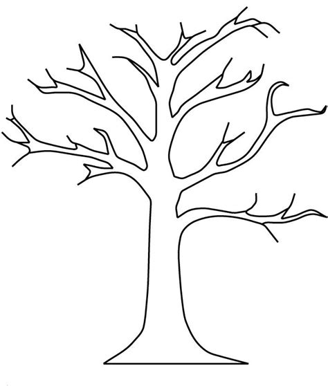 free coloring pages of a bare tree bare tree without leaves coloring pages tree coloring