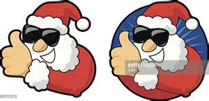 thumbs up santa vector getty images