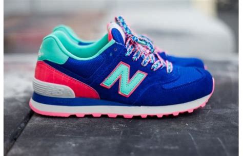 colorful new balances shoes sneakers colours new balance blue