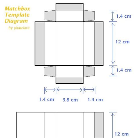 matchbox template how to make your own matchbox crafty