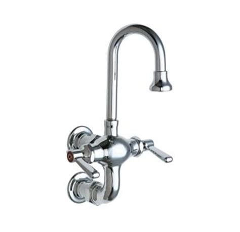 Chicago Faucet Warranty by Chicago Faucets 225 261abcp Chrome Wall Mounted Utility