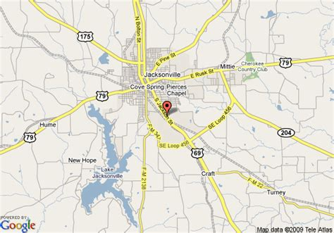 map of jacksonville texas map of inn express jacksonville jacksonville