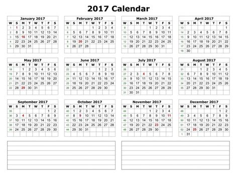One Page Calendar 2017 2017 Calendar Printable One Page Pictures To Pin On