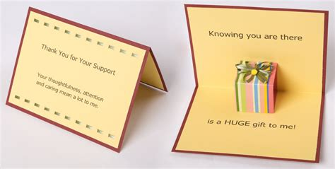 thank you for your support card template personal cards moving messages