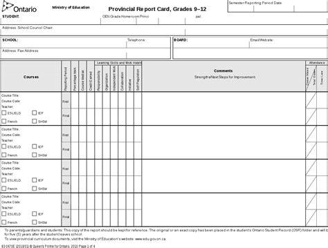 trillium ontario report card templates file ontarioreportcard9 12 svg