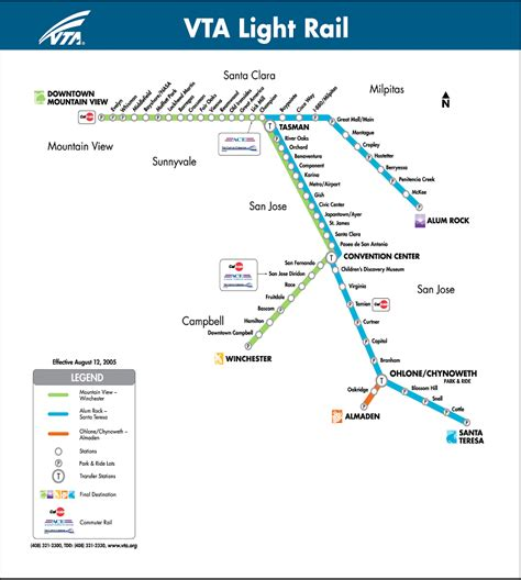 vta light rail map vta map map3