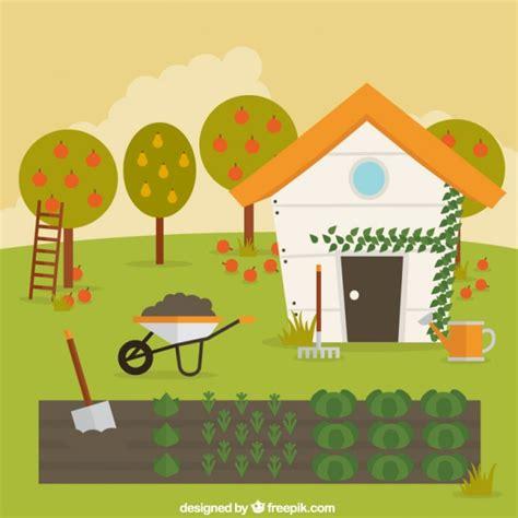 Garden Vector Free Vegetable Garden Vector Free