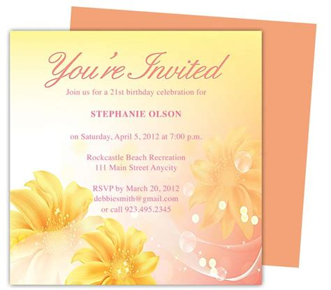 Apple Pages Templates Birthday Cards by Sheer Birthday Invitation Templates Use With Word