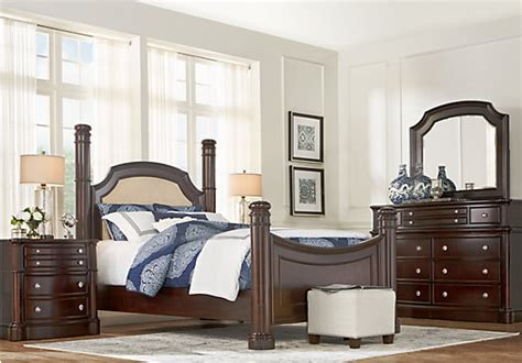 dumont bedroom set dumont cherry 5 pc king low poster bedroom traditional