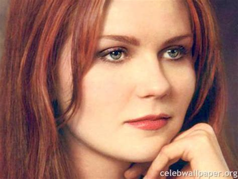 actress with red hair green eyes kirsten dunst movies entertainment background