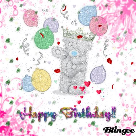 teddy pictures with happy birthday teddy happy birthday picture 106231275 blingee