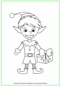 santas elves coloring images amp pictures becuo
