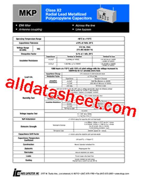 capacitor datasheet pdf 103mkp275kc datasheet pdf illinois capacitor inc