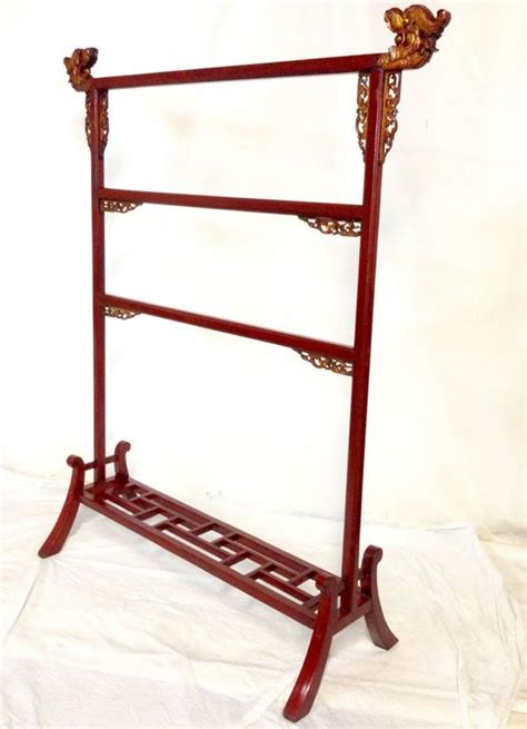 Antique Mahogany Chinese Dragon Garment Rack at 1stdibs