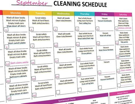 printable monthly house cleaning schedule printable monthly cleaning schedule monthly cleaning