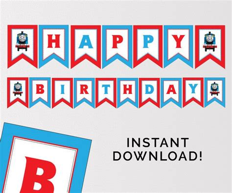 thomas and friends printable birthday banner 49 best thomas the train birthday party images on