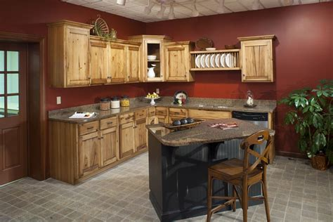 paint colors for kitchen with hickory cabinets ideas paint color in kitchen with hickory