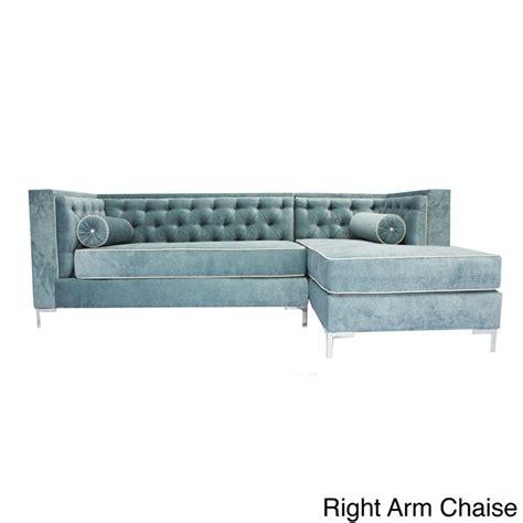 8 ft sectional sofa decenni custom furniture tobias wedgewood blue tufted 8