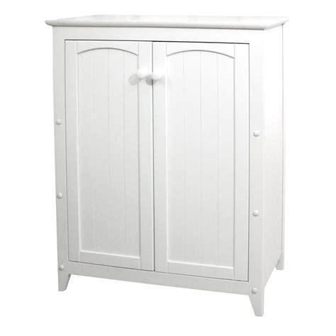 catskill craftsmen 2 door wood storage cabinet in white