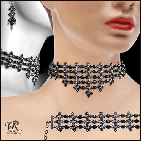 black necklace pattern free pattern for necklace black swan beads magic