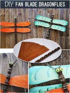 Make Your Own Ceiling Fan Blades Repurpose Fan Blades To Dragonflies