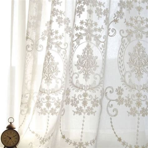 organza voile curtains fashion embroidered voile curtains for for the bedroom