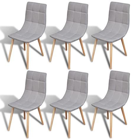 chaise salle a manger gris la boutique en ligne 6 pcs chaise de salle 224 manger gris