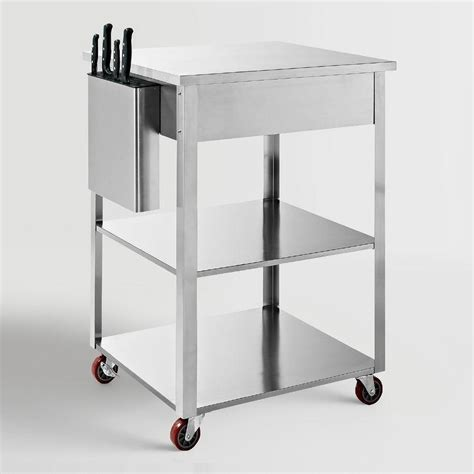 stainless steel kitchen cart stunning the best of luxury