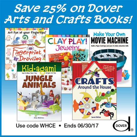 arts and crafts books for 25 dover arts crafts books free homeschool deals